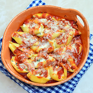 Cheese-Stuffed Jumbo Shells with Marinara Sauce