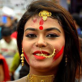 Bong Ritual by Santanu Goswami - People Portraits of Women
