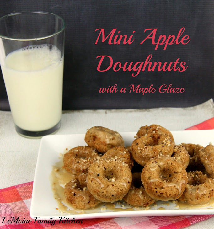 Mini Apple Doughnuts with a Maple Glaze Recipe | Yummly