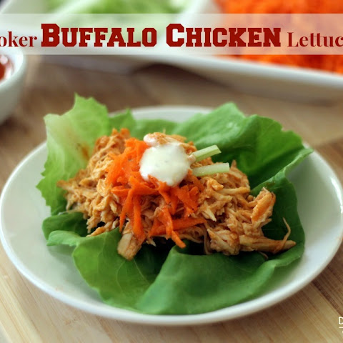 Slow Cooker Skinny Buffalo Chicken Lettuce Wraps
