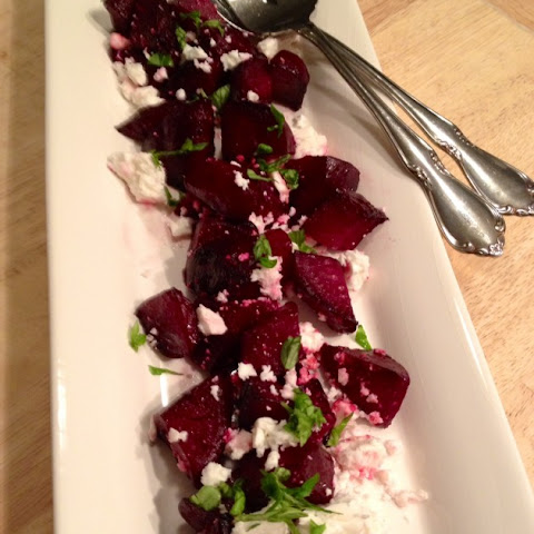 Roasted Beets With Feta Cheese And Basil