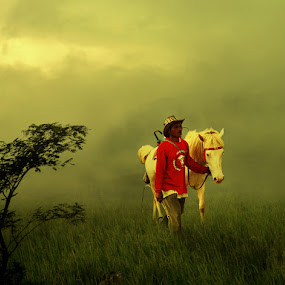 Man & Horse by D'cast Photowork - Digital Art People