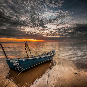 Waiting to Fish v2 by NC Wong - Transportation Boats ( pasir pandak, pasir panjang, kuching, kampung, fishing boat )