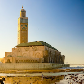 Hassan II Mosque Casablanca Morocco by D L - Buildings & Architecture Places of Worship ( casablanca, urban, islam, mosque, ii, travel, hassan, africa, morocco, city )