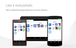 Screenshot of Opera browser for Android