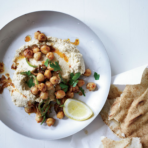 Hummus with Tahini & Spicy Chickpeas
