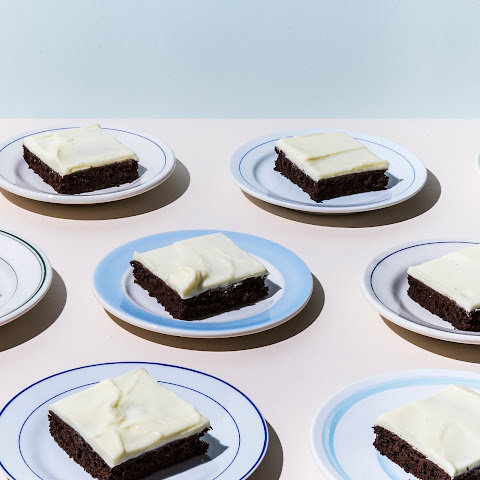 Chocolate Sheet Cake With Crème Fraîche Frosting