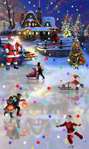 android Christmas Rink Live Wallpaper Screenshot 0