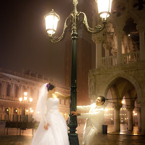 Wonderlight by Philippe Grosvald - Wedding Bride & Groom