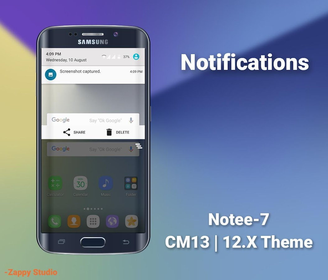CM12/13.X Theme Galaxy 7 Style Screenshot 2