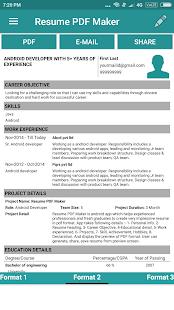 download resume pdf maker cv builder apk on pc