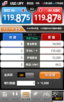 Screenshot of FXroid 外為トレード・チャート分析