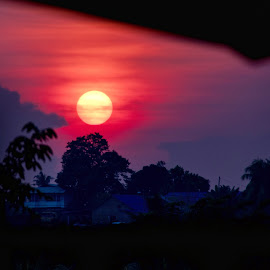 Sunset by Sivasriganeshwaran Siva - Landscapes Sunsets & Sunrises ( clouds, colour, sunset, trees, sun )