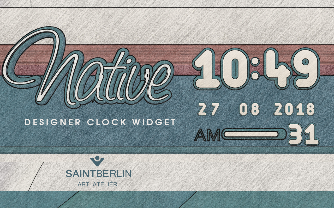 Native Digital Clock Widget Screenshot 2