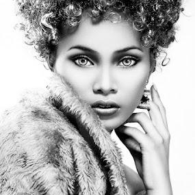 Black Beauty by Joe Malicdem - People Fashion ( glamour, fashion, black and white, joe malicdem, beauty, portrait )