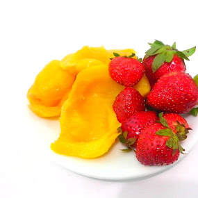 Healthy Colors by Anjsh Lacanlale - Food & Drink Fruits & Vegetables ( jackfruit, food, fruits, strawberries, healthy )