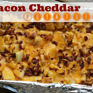 The BEST Cheddar Bacon Potatoes #Recipe