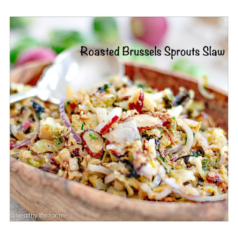 Roasted Brussels Sprouts Slaw