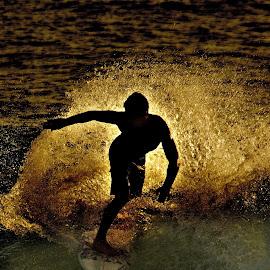 Wavedancer by Dricus Bosman - Sports & Fitness Surfing ( crisp, surfboard, wave, composition, surfing sharp, ocean, daybreak, surf, dusk )