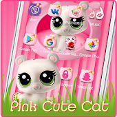 Free Download Pink Cute Cat APK for Samsung