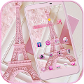 Pink Theme Eiffel Tower Love APK for Bluestacks