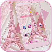 Download Pink Theme Eiffel Tower Love APK to PC