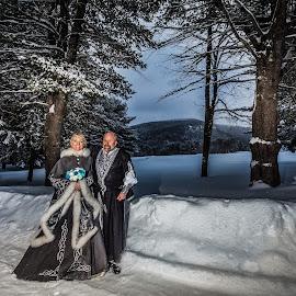 snow birds by Joe Martin - Wedding Bride & Groom ( bride, groom, i do, snow, wedding )