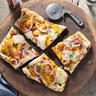 Peach and Pepper Jack Grilled Flatbread