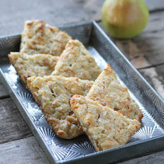Spice Roasted Pear Cheddar Scones