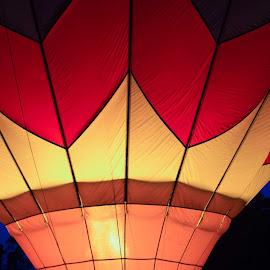 All Aglow by Linda Sacauskas - Transportation Other ( hot air balloon )