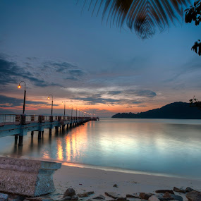 Jerejak Jetty by P Hin Cheah - Landscapes Sunsets & Sunrises ( dawn, jerejak jetty, penang, jerejak, sunrise )