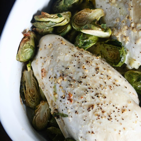 Baked Garlic Butter Chicken and Brussels Sprouts