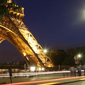 Tour Eiffel by night by Habashy Photography - Travel Locations Landmarks ( paris, tower, eiffel, night, lights )