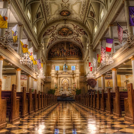 St Louis Cathedral- New Orleans by Laura Prieto - Buildings & Architecture Places of Worship ( interior, new orleans, catholic, church, big easy, warm tones, louisiana, religio, louis xiv, jackson square, cathedral, architecture, light, usa )