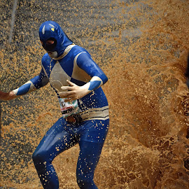 Very Best Vintage ! by Marco Bertamé - Sports & Fitness Other Sports ( water, differdange, splash, splatter, 2015, mask, number, soup, running, 1961, luxembourg, 1127, muddy, blue, determined, brown, strongmanrun )