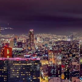Colorful MX city by Andrius La Rotta Esquivel - City,  Street & Park  Skylines ( amazing, vistas, skyline, night photography, mexico, cityscape, photography )