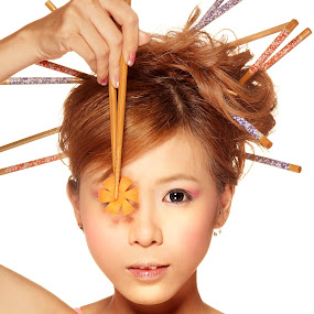 Chop Sticks by Crispin Lee - People Portraits of Women