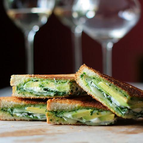 Green Goddess Grilled Cheese Sandwich Recept | Yummly