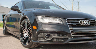 Wheels and tires on an Audi A6 - Ottawa