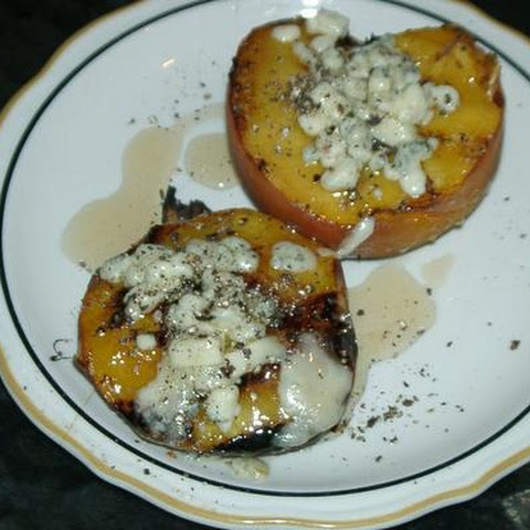 Hickory Smoked Grilled Peaches