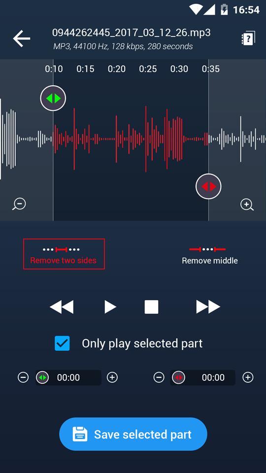 MP3 Cutter Ringtone Maker Pro Screenshot 0