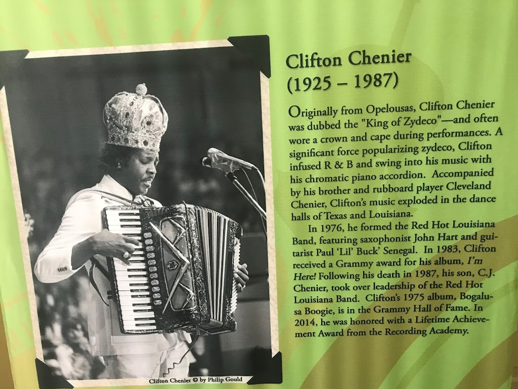 Originally from Opelousas, Clifton Chenier was dubbed the