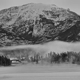 Landmarks by Marko Ginsberg - Black & White Landscapes ( mountain, mt. baldy, rainbow bridge, snow, black & white, view,  )