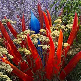 Glass Flower Arrangement by Janet Marsh - Artistic Objects Glass ( glass, garden, filoli,  )