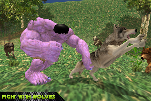 Monster Hero VS Angry Wolves apk screenshot