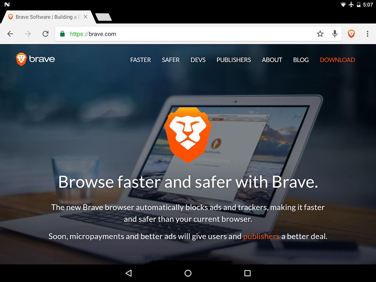 Brave Browser: Schneller AdBlocker android apps download