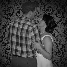 Dance Partners by Gerald Glaza - People Couples ( dancing, 1940's, black and white, slow dance, photoshop, couples )