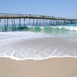 Pier by Prentiss Findlay - Landscapes Beaches ( kitty hawk, avalon pier, outer banks, pier, beach pier )
