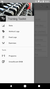 Training Toolkit Fitness app screenshot for Android