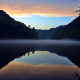 F-2012 O8 by Ross Boyd - Landscapes Sunsets & Sunrises ( mountains, nc, sunset, lakes, reflections,  )
